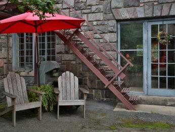 adirondack chairs in back gardens
