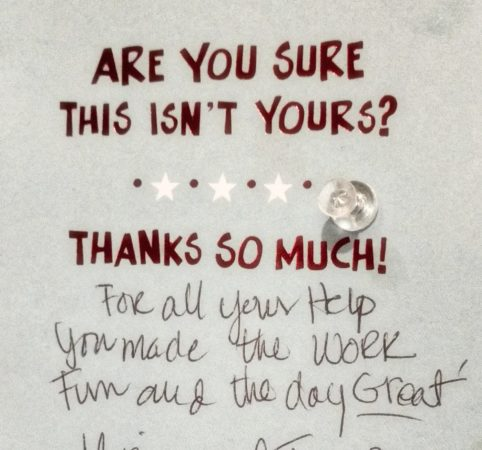 thank you note from guests that stayed and planned a wedding