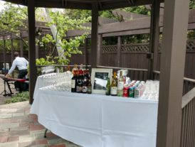 bar in gazebo area