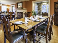 formal dining room for meeting
