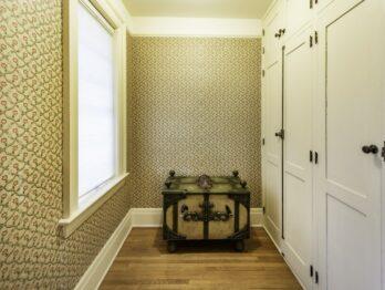 Bridal suite gown closet area