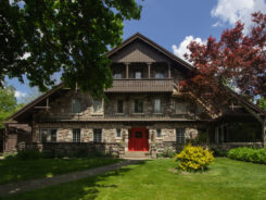 stone chalet bed and breakfast inn. this is the original swiss style chalet, the main house