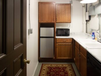kitchenette in the utility room