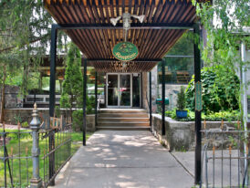 Reception Entrance at Stone Chalet